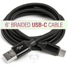 BRAIDED 6FT USB C CABLE FOR ANDROIDS